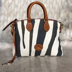 DOONEY & BOURKE leather and fabric bag